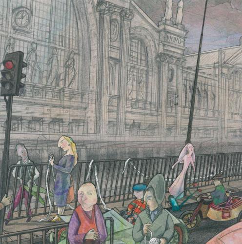 Devant La Gare du Nord